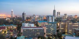 Cityscape of Nairobi, Kenya
