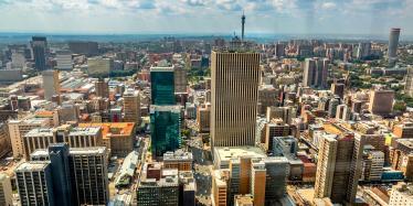 Skyline of Johannesburg, South Africa