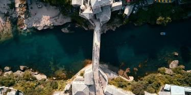 The Stari Most, bridge in Mostar, Bosnia and Herzegovina